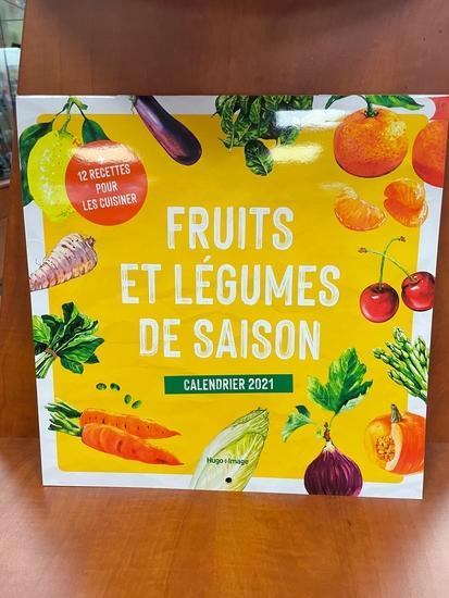 Calendrier mural Fruits et légumes de saison 2021